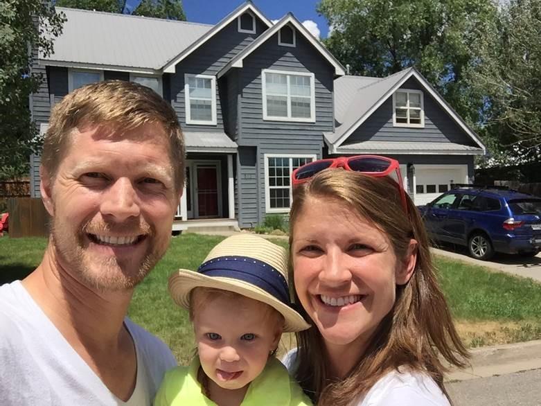Copeland family happy homeowners